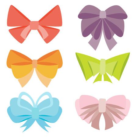 ribbons and bows: Set of various abstract bows and ribbons. Illustration
