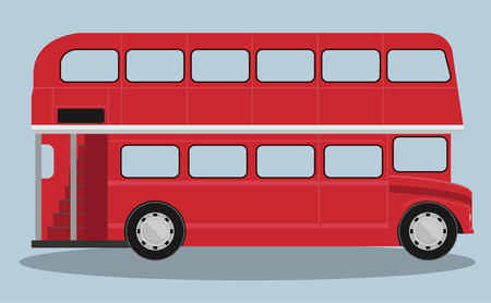 A vector illustration of a red london bus
