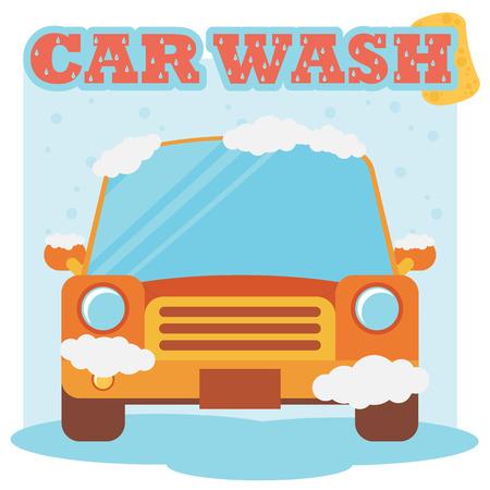 briliance: Car wash. Flat design