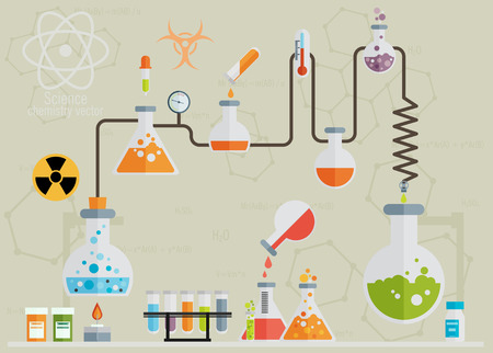 chemical industry: Medical laboratory infographics