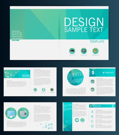Brochure Flyer design vector template Ilustrace