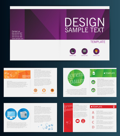 Brochure Flyer design vector template Stock fotó - 34093870