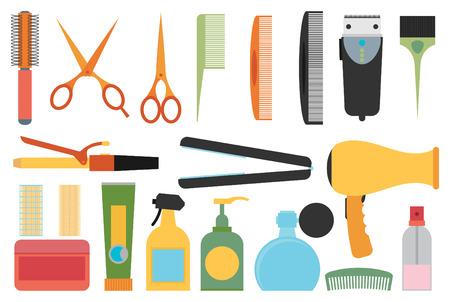 Flat Design Hairdressing