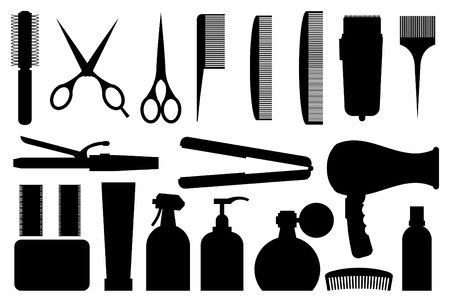 comb hair: Hairdressing related symbol