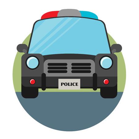 Vector Police Car in flat style Vector