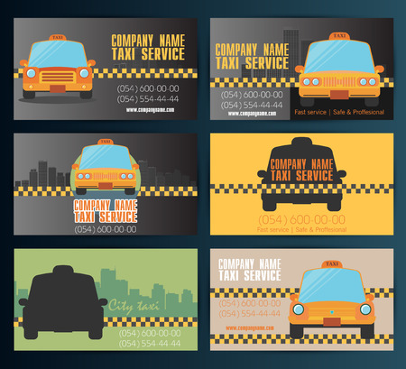 10eps: Business card taxi - fourth set. Vector 10eps