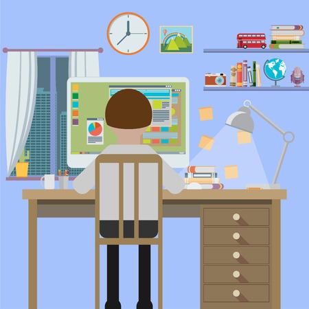 superacion personal: Estaci�n de trabajo, dise�o plano