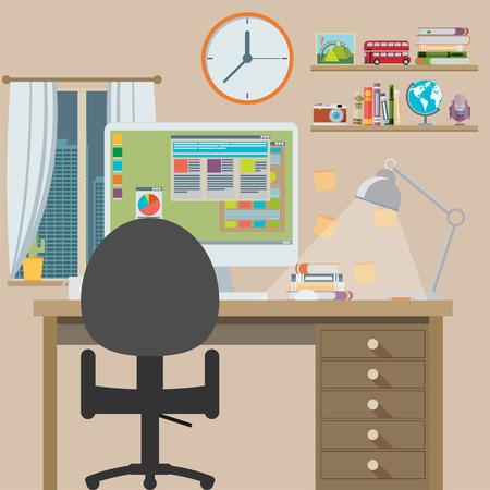 estação de trabalho: Workstation, design plano