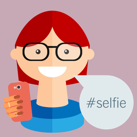 woman cellphone: Selfie, taking self photo