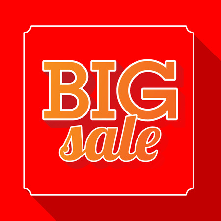 sellout: Big sale red poster with price tag, vector illustration. Illustration