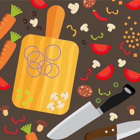 Cooking poster design. Vector illustration Vector