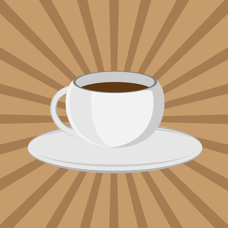 sip: The coffee cup on a brown background. Lunch
