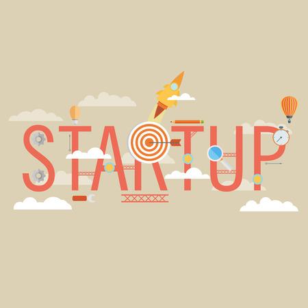 Start Up Concept Composition - Flat Design