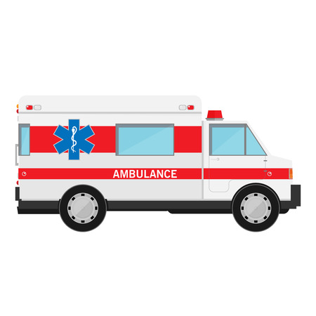 ambulance emergency: Ambulance vector car