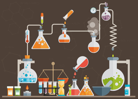 distillation: Medical laboratory infographics