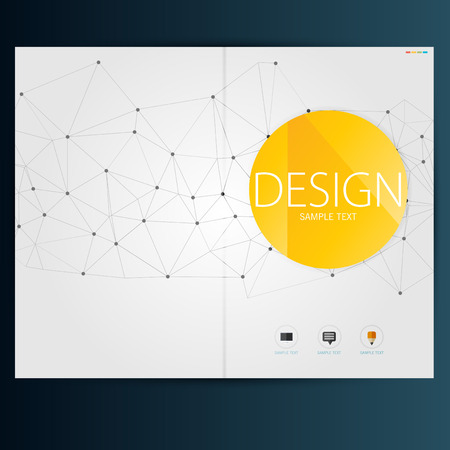 Modern Vector abstract brochure, report or flyer design template Stock fotó - 36949785