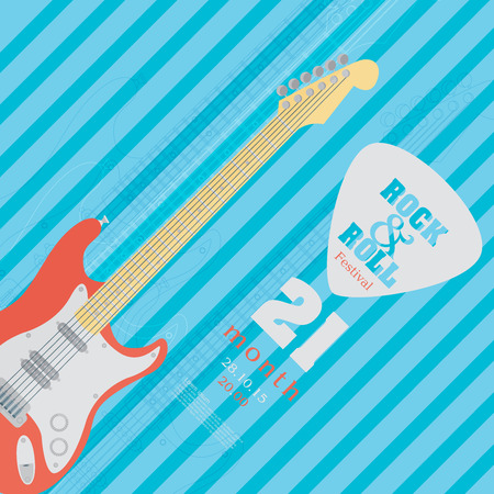 electric hole: Electric guitar banner background. vector illustration