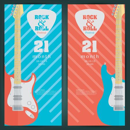 frets: El�ctrico fondo guitarra bandera. ilustraci�n vectorial
