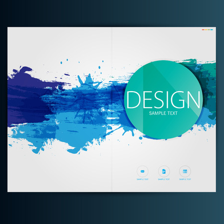 Modern Vector abstract brochure, report or flyer design template Imagens - 38308101