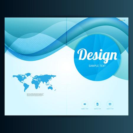 Moderne Vector abstract brochure, rapport ou un modèle de conception flyer Banque d'images - 38308762