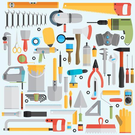 작업 도구 아이콘 복구 및 건설 그림입니다.