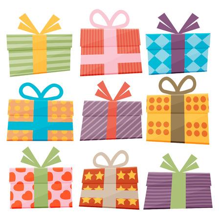 Ensemble d'icônes de coffrets cadeaux Banque d'images - 38310243