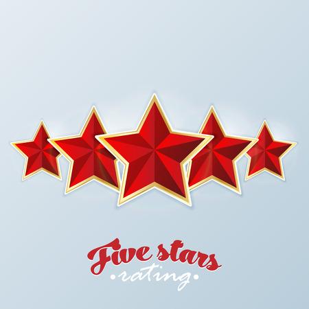 energy ranking: Five stars rating. Vector. Illustration