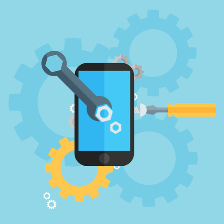draughts: Mobile repair and development illustration