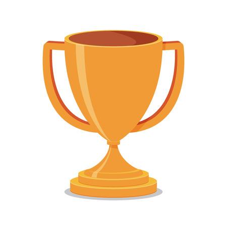 primer lugar: Trofeo de la Copa plana Vectores