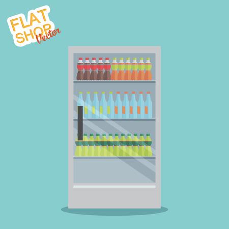 edibles: Supermarket. Flat vector Illustration