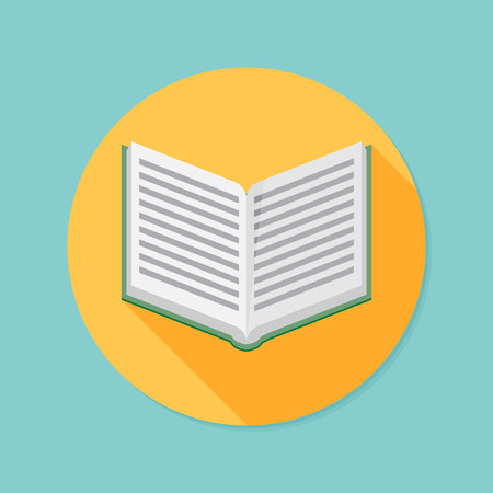 open diary: Vector book icon Illustration
