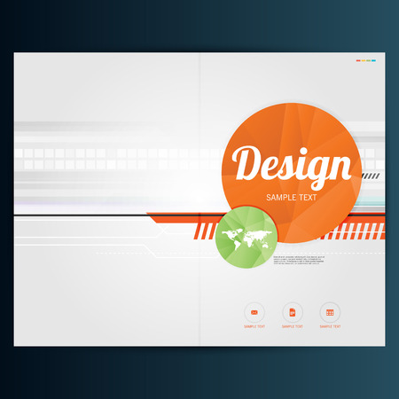 Brochure Flyer design vector template Vectores