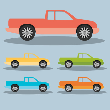 transference: Pickup truck. Vector Illustration