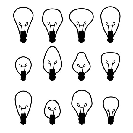 electric bulb: Electric bulb set Illustration