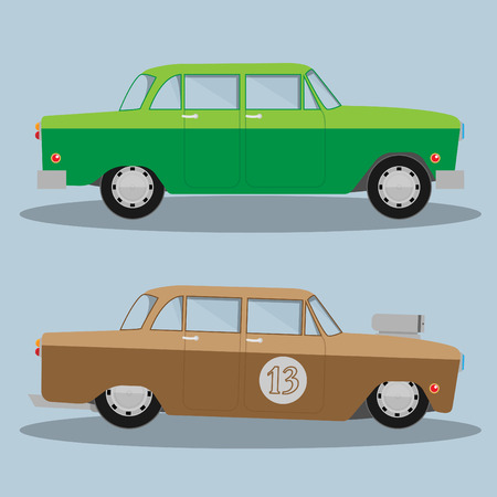 hotrod: Vector Car and Hotrod. Eps 10 Illustration