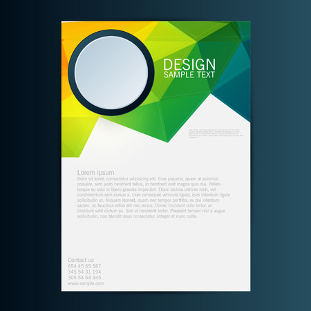 Brochure Flyer design vector template. Eps 10 Illustration