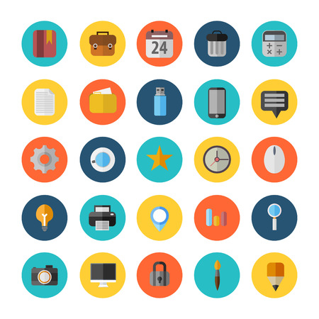office icons: Vector Office Icons 25 Set