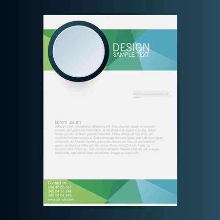 blank brochure: Brochure Flyer design vector template. Eps 10 Illustration