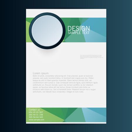folleto: Folleto Flyer plantilla de diseño vectorial. Eps 10