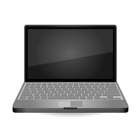 laptop isolated: Laptop Isolated on White Background. Vector Illustration.