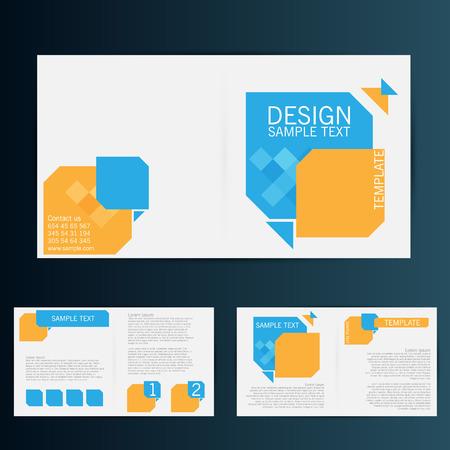 Brochure Flyer design vector template. Eps 10 Stock Illustratie