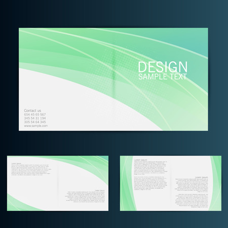 Brochure Flyer design vector template. Eps 10  イラスト・ベクター素材