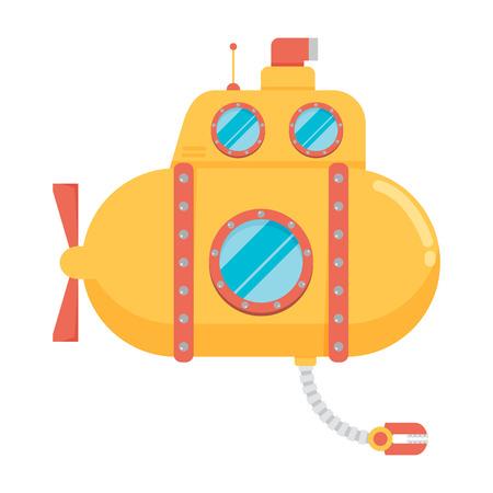 Transportation Submarine flat icon Ilustração