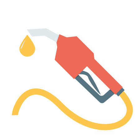 fuel economy: Fuel nozzle add fuel Illustration