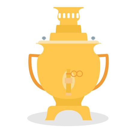 samovar: Vector samovar icon - kettle. Tea time