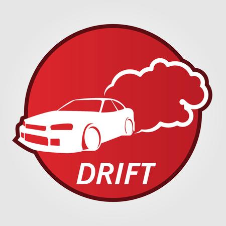 drifting: Race Car Drifting. Illustration