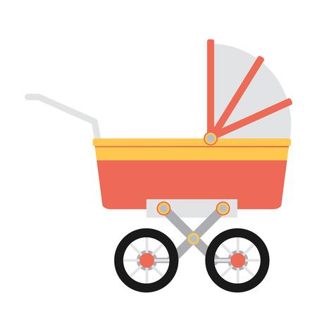 suckling: Illustrazione vettoriale di carrozzina piatta