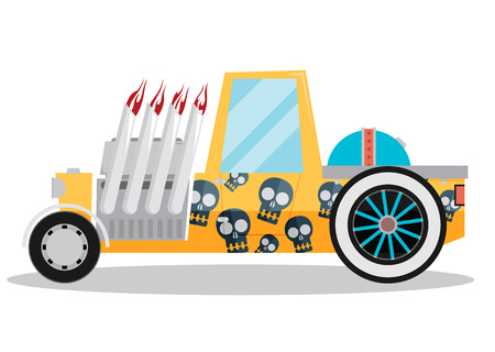 hotrod: Vector Hotrod flat Illustration