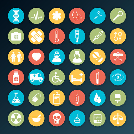 Vector Medical Icons 36 Set