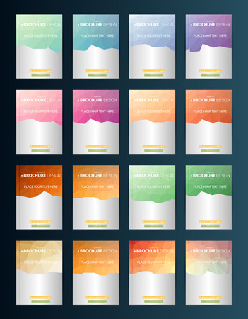 style template: Brochure Design Template. Geometric shapes, Abstract Modern Backgrounds, Infographic Concept.Flat design. Vector Illustration